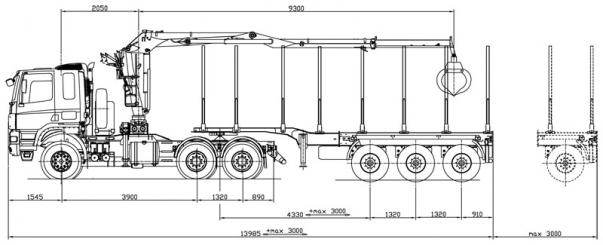 tatra t158 8p5r33 391 naves umikov rozmery 6x6 UNIVERSAL LOG TRUCK